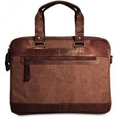 Spikes & Sparrow Canvas Zippered Briefcase CV74200