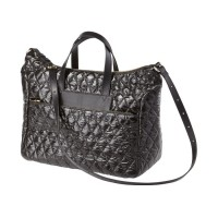 Quilted Messenger Crossbody Tote