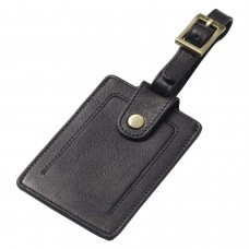 First Class Leather Snap Luggage Tag