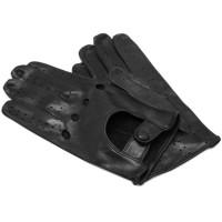 Men's Black Leather Napoli Driving Gloves