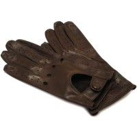 Women's Brown Leather Napoli Driving Gloves