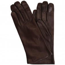 Women's Cashmere Lined Brown Leather Napoli Gloves