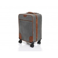 """Whitman - L3268 - 22"""" Waxed Canvas Wheeled Carry-On"""