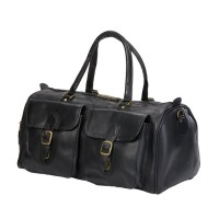 Two Pocket Leather Duffel