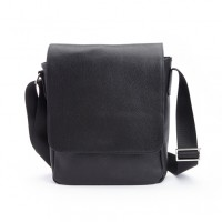 Luxury Ipad Messenger Bag Handcrafted In Soft Pebbled Genuine Leater