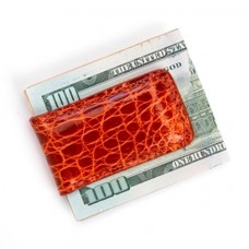 Luxury Magnetic Money Clip Wallet, Handcrafted in Genuine Crocodile