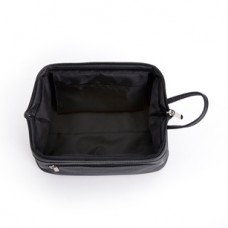Toiletry Travel Wash Bag in Pebbled Genuine Leather