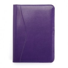 Compact Writing Portfolio Organizer in Genuine Leather