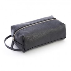 Pebbled Leather Compact Toiletry Bag