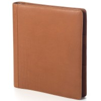 Open 3 Ring Leather Binder
