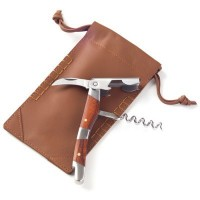Corkscrew with Leather Pouch