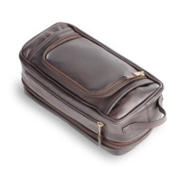 Expandable Leather Toiletry Case