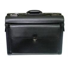 """19"""" Long Cowhide Leather Computer/Pilot Case without Wheels"""