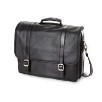 Executive Leather Flap Laptop Briefcase