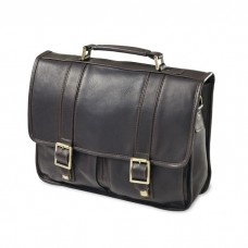 Classic Leather Flap Briefcase