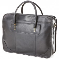 Leather Top Handle Laptop Briefcase