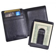 Saffiano Money Clip ID Wallet
