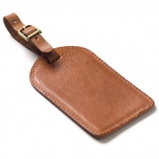 Leather Rectangle Luggage Tag
