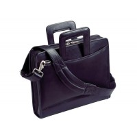 Harness Cowhide Napa Leather Portfolio w/3-Ring Binder w/Removable Shoulder Strap