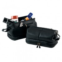 Toiletry Bag And Zippered Bottom Compartment