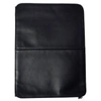 Harness Cowhide Leather Letter Size Underarm Portfolio w/#9 Heavy Duty Zippers