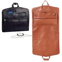 Cowhide Napa Supple Leather Garment Carrier