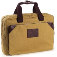 Canvas and Leather Top Handle Brief