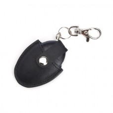 Bluetooth Tracking Smart Tag with Genuine Leather Key Fob Ring Organizer
