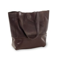 Vertical Leather Kate Tote