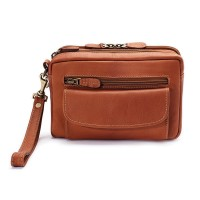 Harness Cowhide Leather Compact Organizer E/W Style