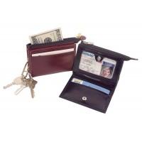 High Polished Cowhide Aniline Kabul Leather I.D. Card Holder