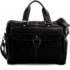 Voyager Top Zip Briefcase with Front Flap Pocket 7316