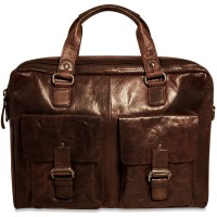Spikes & Sparrow Collection 74202 Double Gusset Top Zip Briefcase