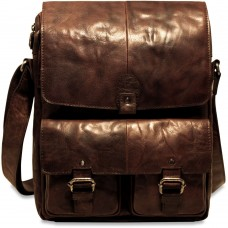 Spikes & Sparrow Collection 74502 North/South Messenger Bag Brown