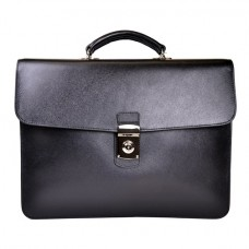 Kensington Saffiano Single Gusset Briefcase