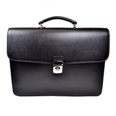 Kensington Saffiano Double Gusset Briefcase