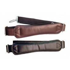 Harness Cowhide Leather Shoulder Strap w/Large Ergonomic Shoulder Pad w/Silver Hardware
