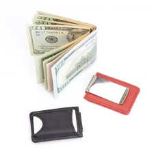 Bluetooth Tracking Wallet Tag Device Inside Slim Genuine Leather Money Clip Wallet