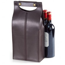 Leather Two Bottle Carrier