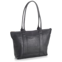 Leather Zip Top Shopper