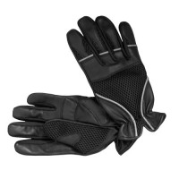 Mesh And Leather Gloves