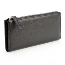 Fan Wallet In Saffiano Leather (RFID Blocking)