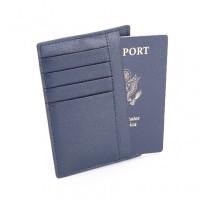 Slim Travel Passport Wallet In Saffiano Genuine Leather (RFID Blocking)