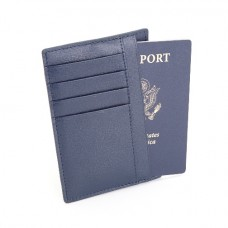 Slim Travel Passport Wallet In Saffiano Genuine Leather (RFID Blocking)