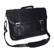 Vaquetta Triple Compartment Laptop Briefcase
