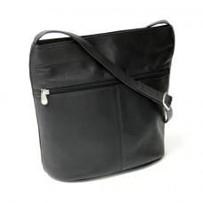 Vaquetta Shoulder Bag with Front Zipper