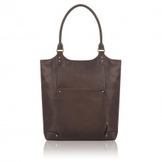 """Executive 16"""" Leather Bucket Tote"""